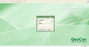 Вход в софтуер за графици - GeoCon PlanExpert
