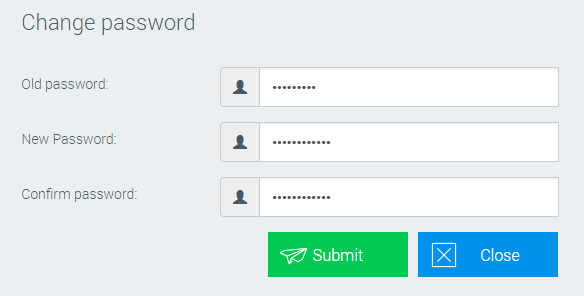 Change password in PlanExpert