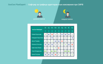 Правила при СИРВ интегрирани в GeoCon PlanExpert